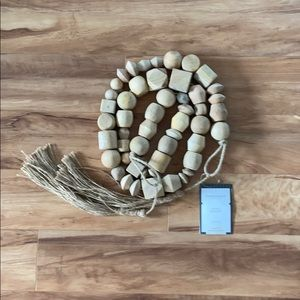 Threshold Decorative Wooden Bead Garland